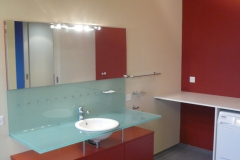 Badezimmer in Le Corbusier farben