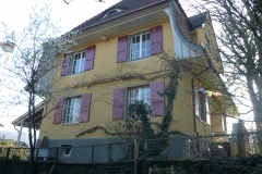 Burgergasse Burgdorf Silikatfarbe und Ölfarbe Denkmalgeschütztes Objekt
